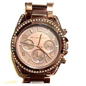 Chocolate brown Michael Kors watch